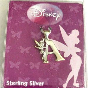 TinkerBell Sterling Silver 925 A Initial Charm